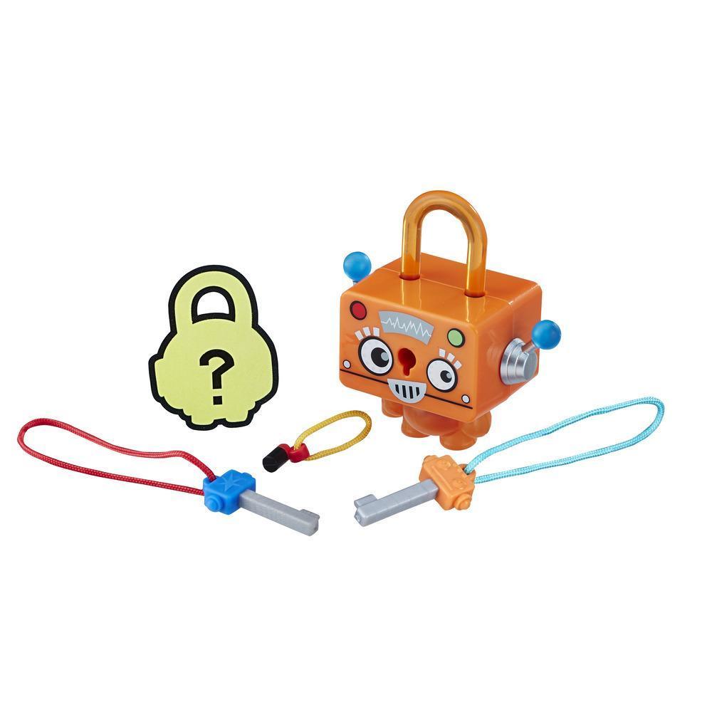 Figurina breloc Lock Stars - Robot portocaliu (E3207)