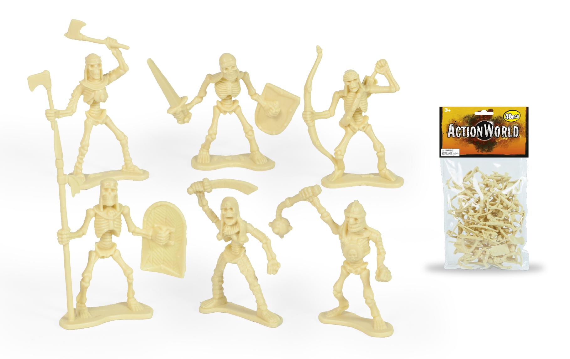 Set figurine flexibile Toy Major - Skeleton Warrior Figure