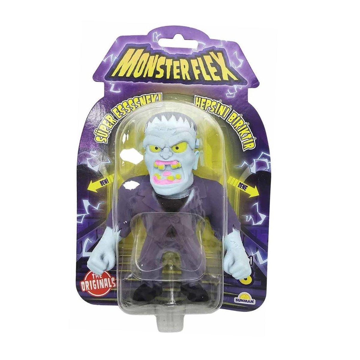Figurina Monster Flex, Monstrulet care se intinde, S3, Frankenstein