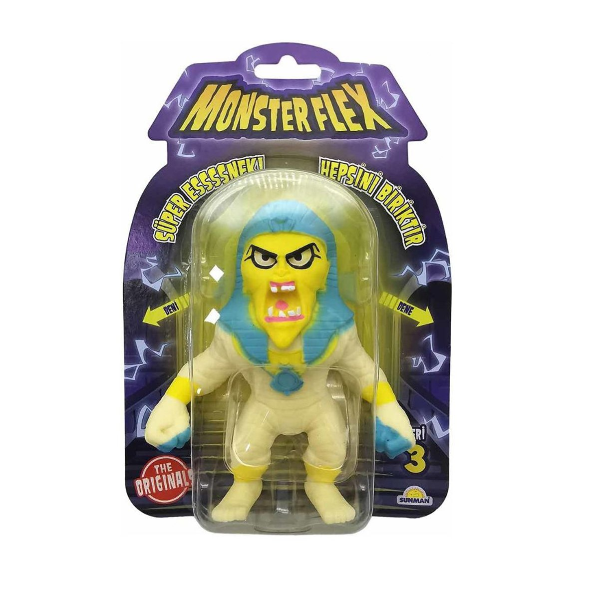 Figurina Monster Flex, Monstrulet care se intinde, S3, Pharaoh Mummy