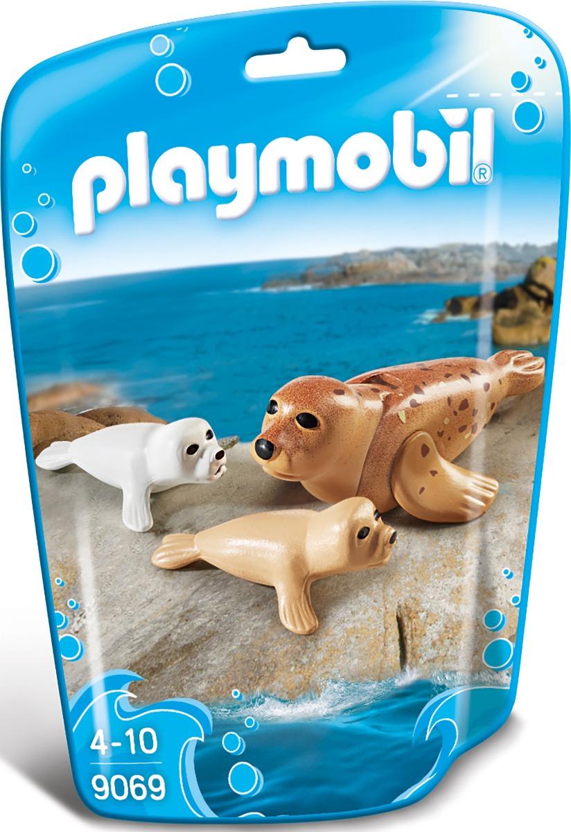 set figurine playmobil family fun - foca si puii sai (9069)