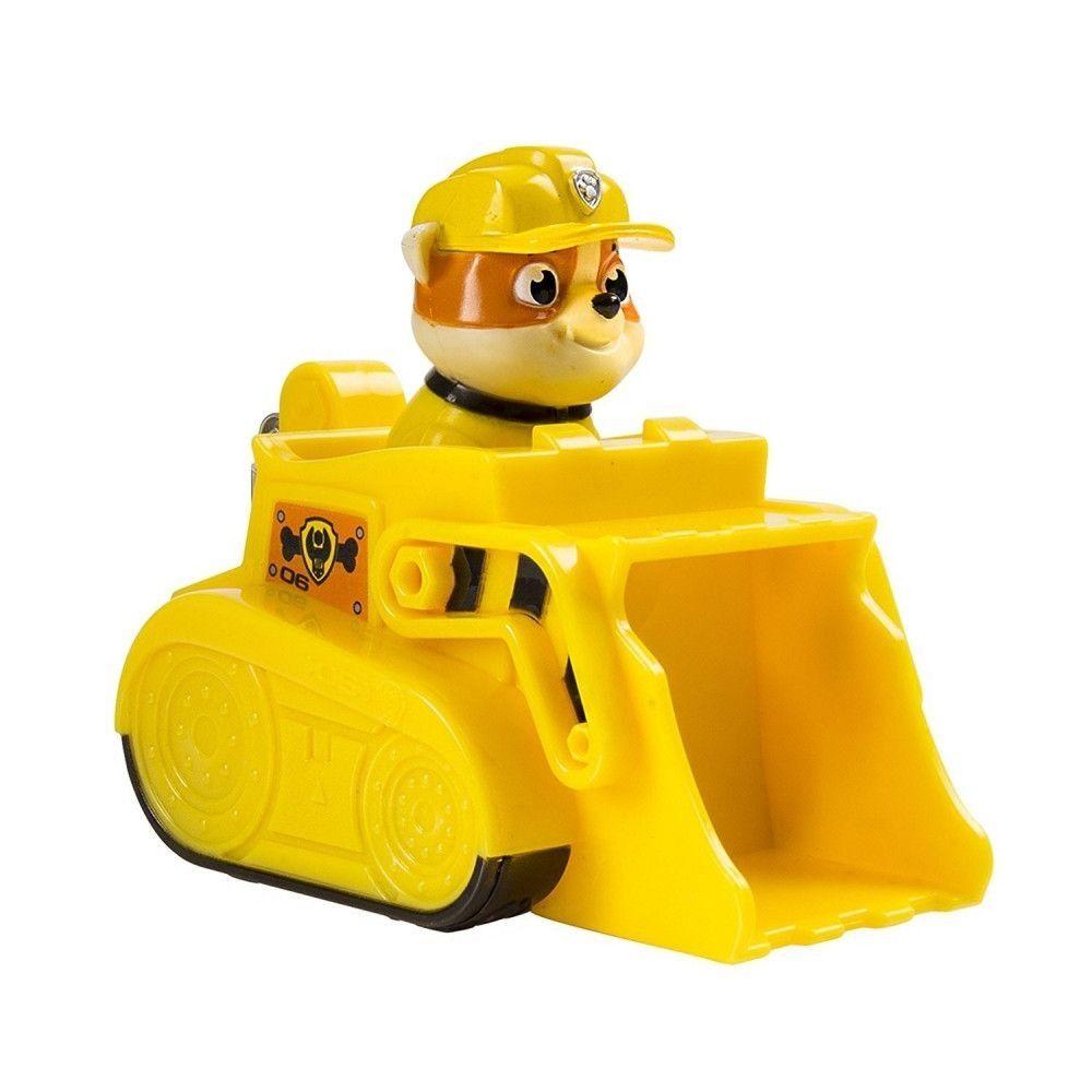 Figurina Paw Patrol Jungle Rescue - Buldozerul lui Rubble