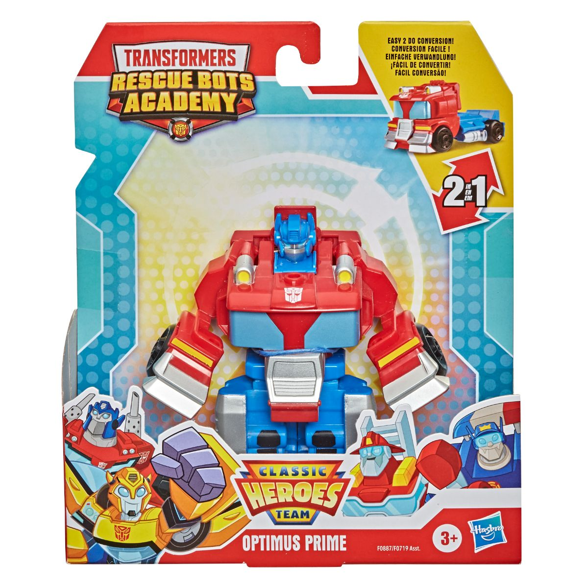 Figurina Transformers, Rescue Bots Academy, Optimus Prime, F08875
