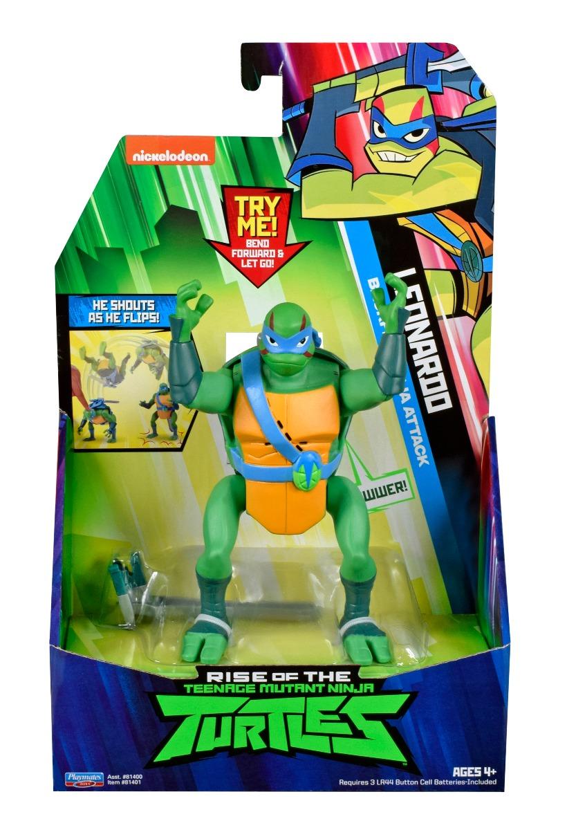 Figurina Testoasele Ninja Leonardo Battle Attack imagine 2021