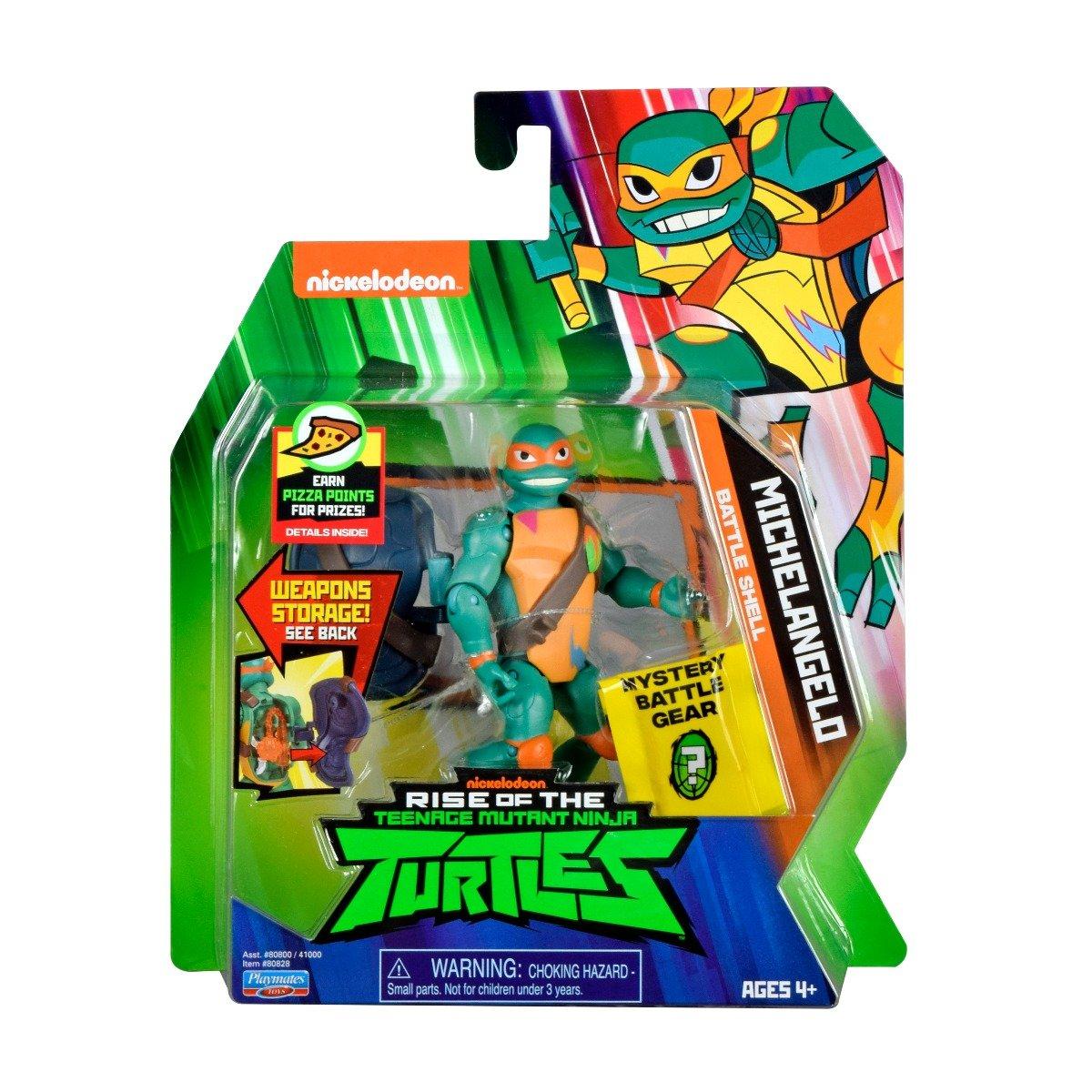 Figurina Testoasele Ninja Michelangelo Battle Shell