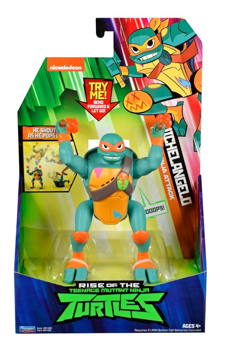 Figurina Testoasele Ninja Michelangelo Ninja Attack imagine 2021