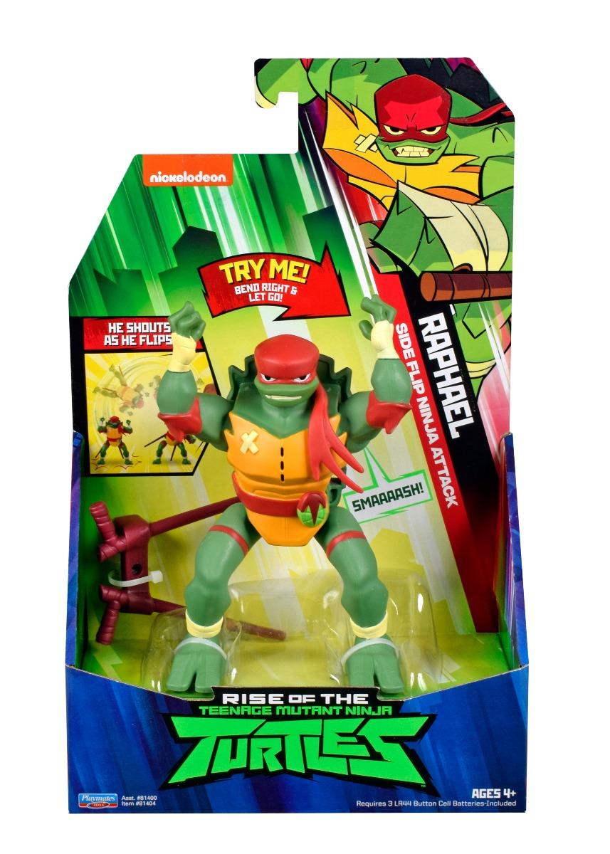 Figurina Testoasele Ninja Raphael Side Flip Ninja Attack imagine