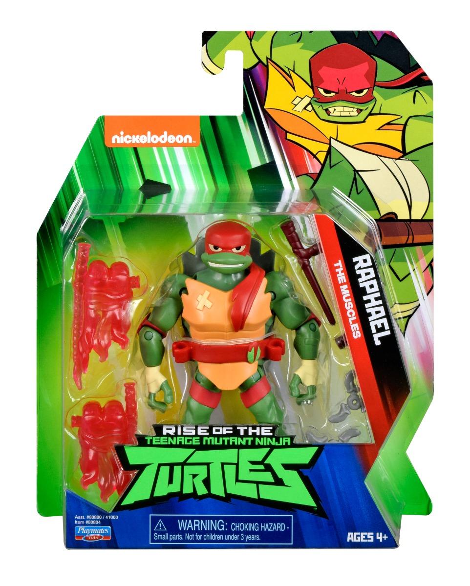 Figurina Testoasele Ninja Raphael The Muscles cu accesorii