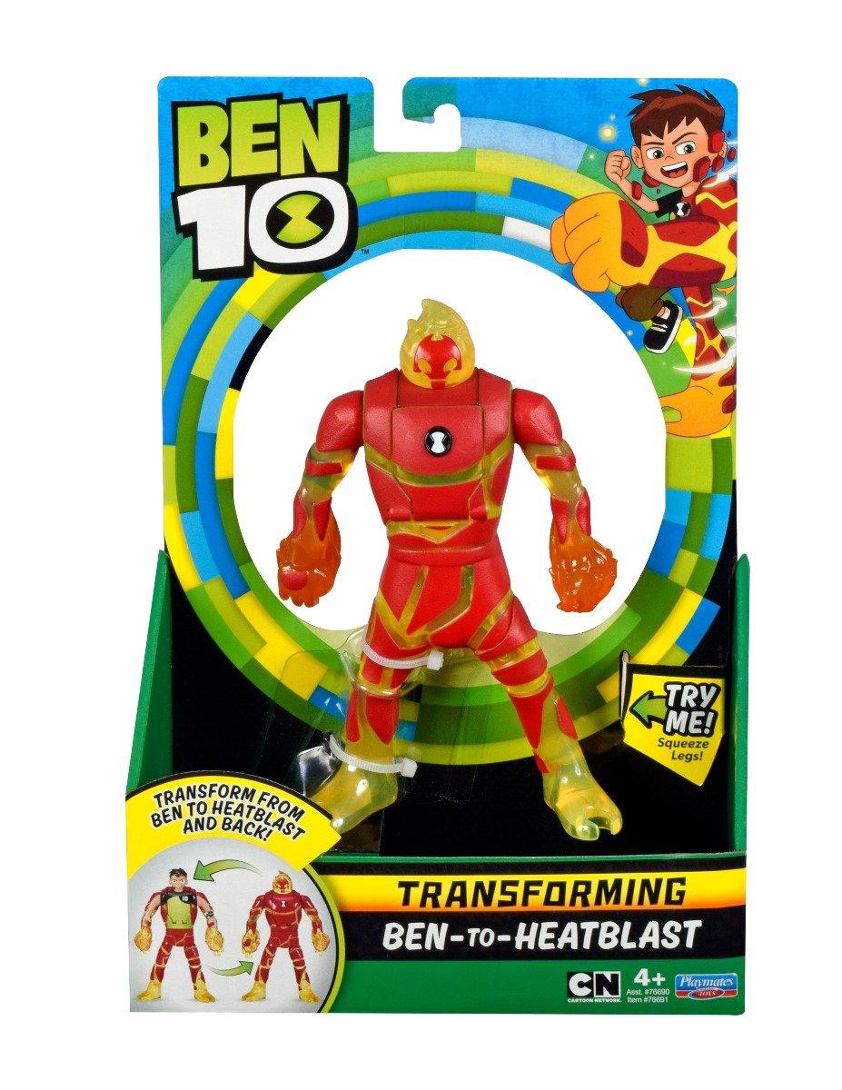 Figurina transformer Ben to Heatblast Ben 10 imagine 2021
