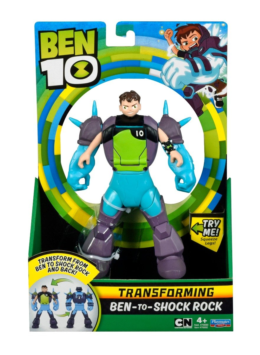 Figurina transformer Ben to Shock Rock Ben 10