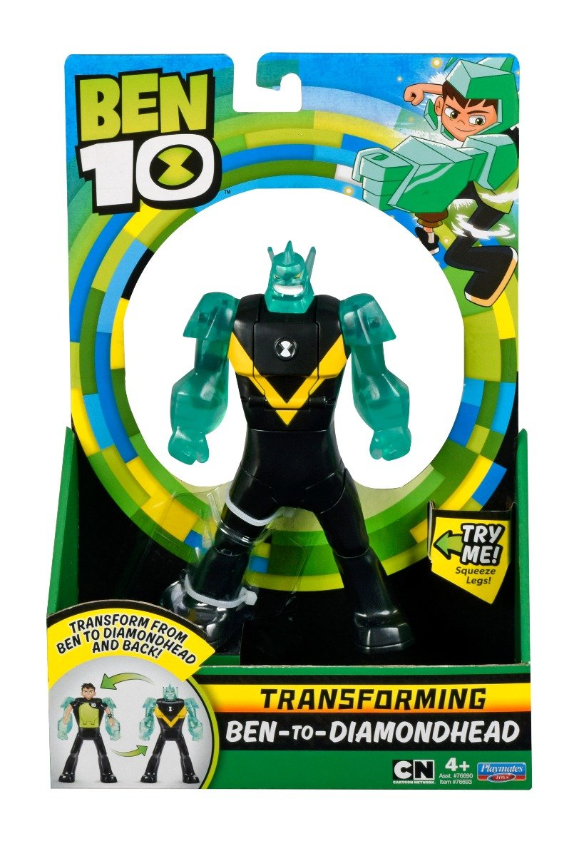 Figurina transformer Ben to Diamond Head Ben 10