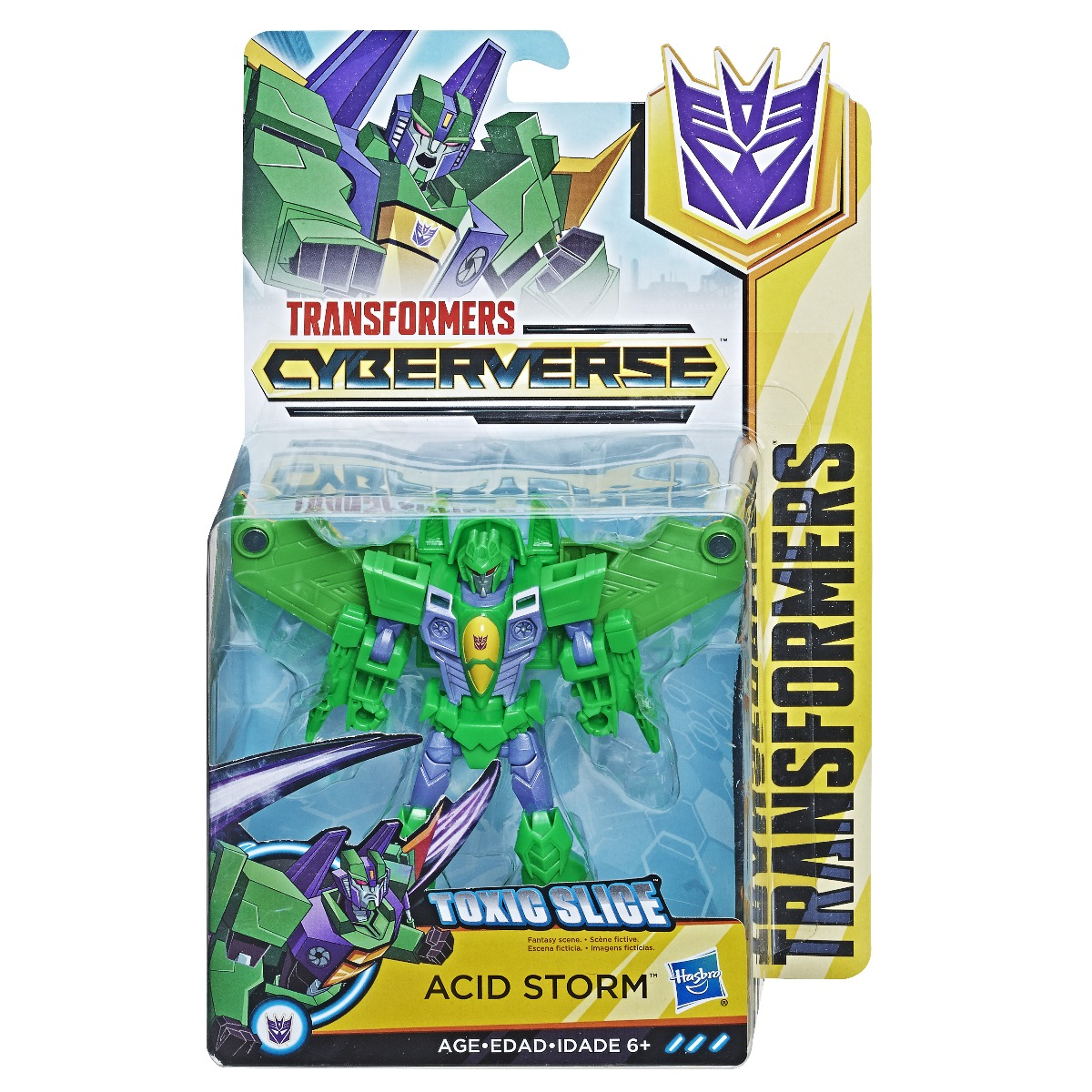 Figurina Transformers Cyberverse Action Attacaers Warrior Acid Storm