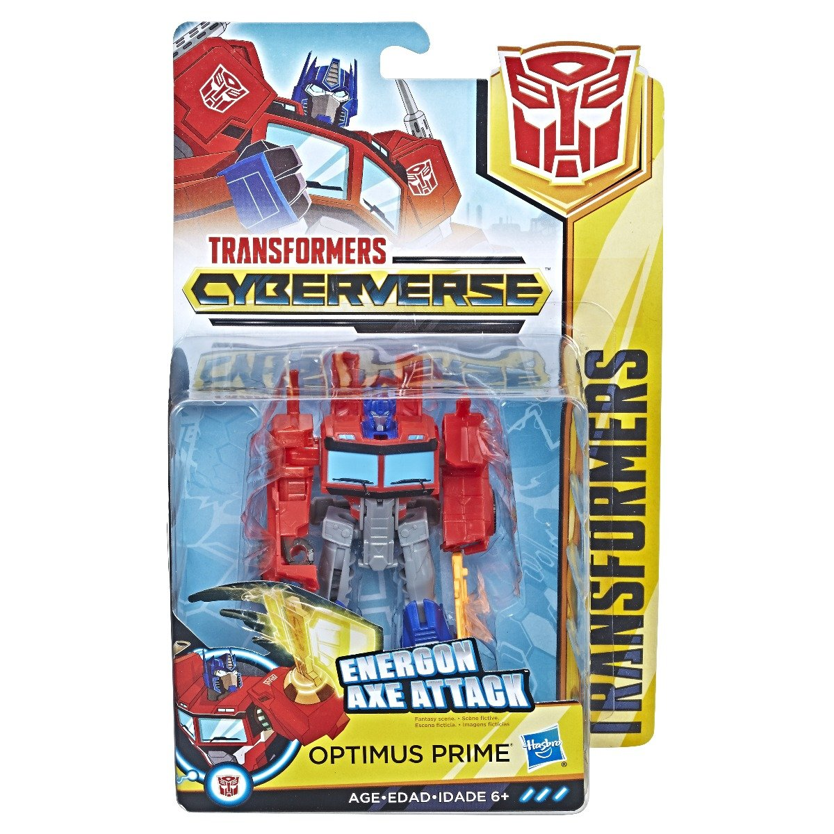 Figurina Transformers Cyberverse Action Attackers Warrior Optimus Prime
