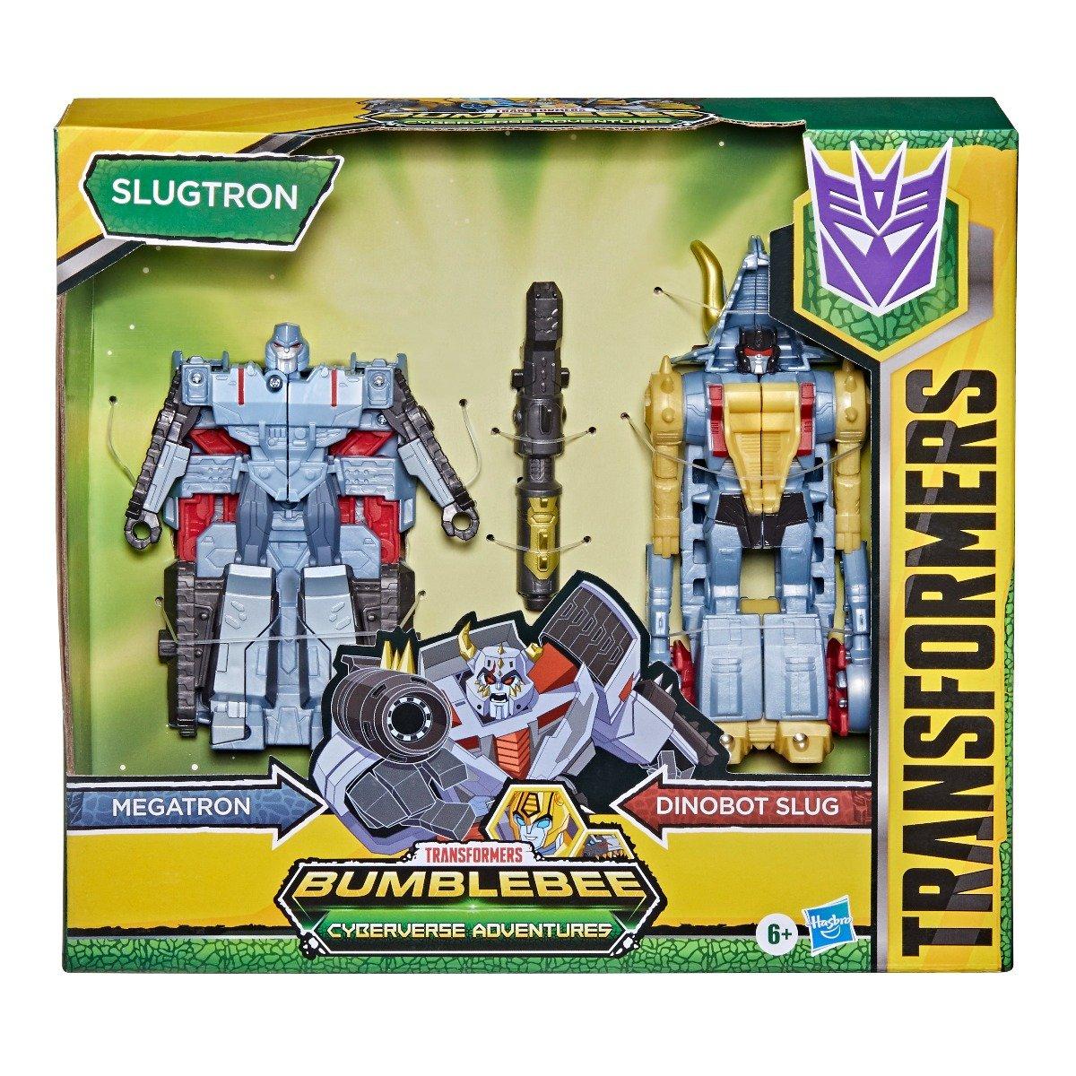 Figurina Transformers, Cyberverse Roll And Combine, Megatron, Dinobot Slug