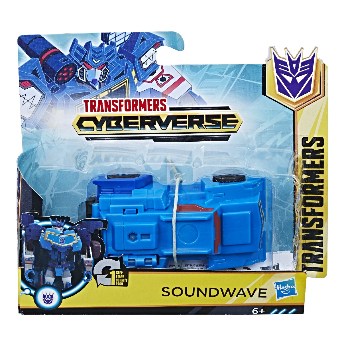 Figurina Transformers Cyberverse Step Charger Soundwave