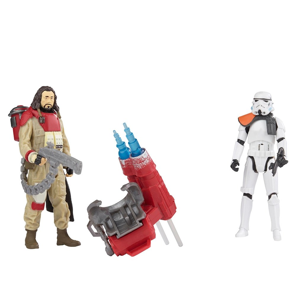 figurine deluxe star wars rogue one - baze malbus vs. soldat din trupe imperial stormtrooper, 10 cm