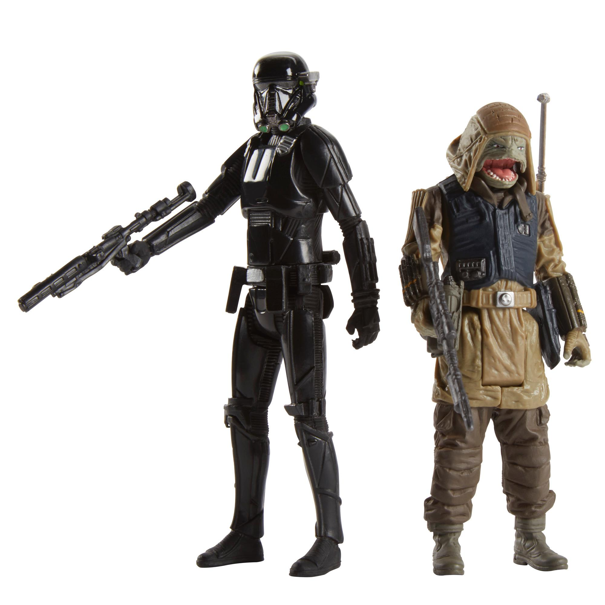 figurine deluxe star wars - soldat death trooper al imperiului si commando pao