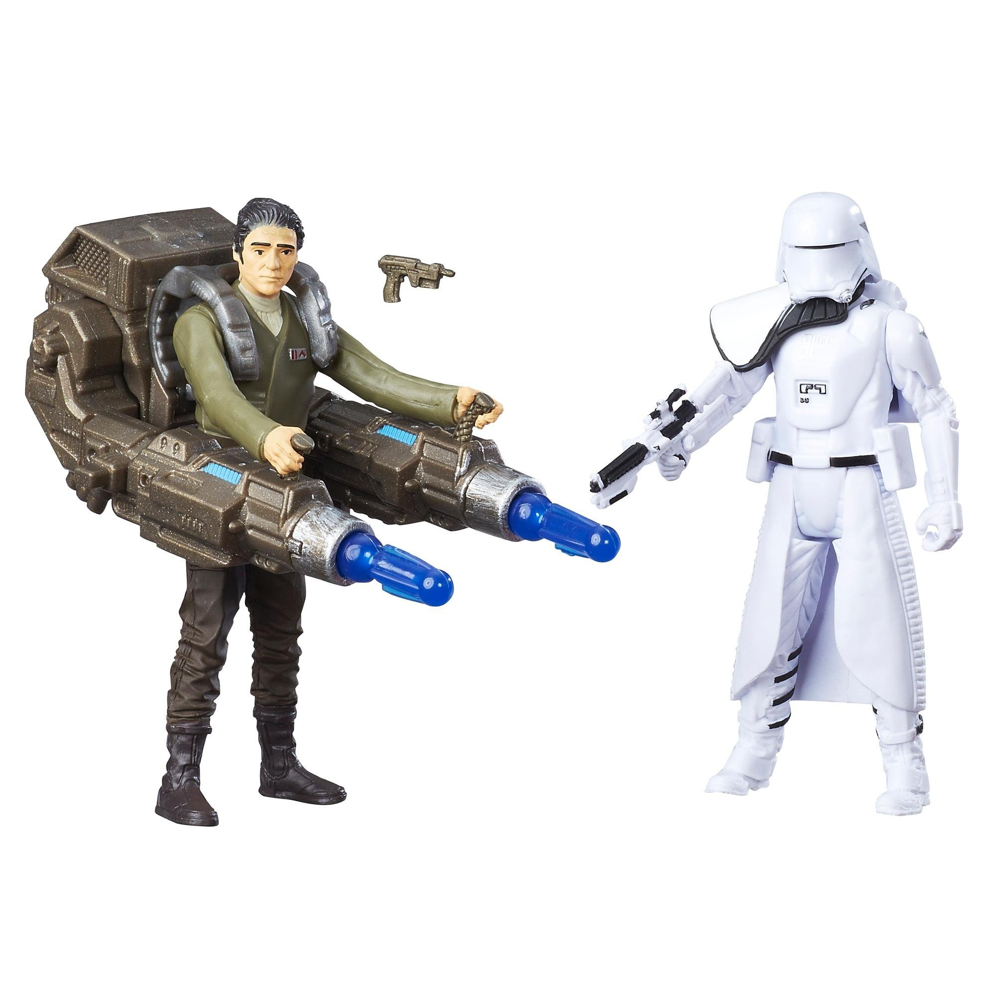 figurine deluxe star wars the force awakens - poe dameron si snowtrooper al primului ordin