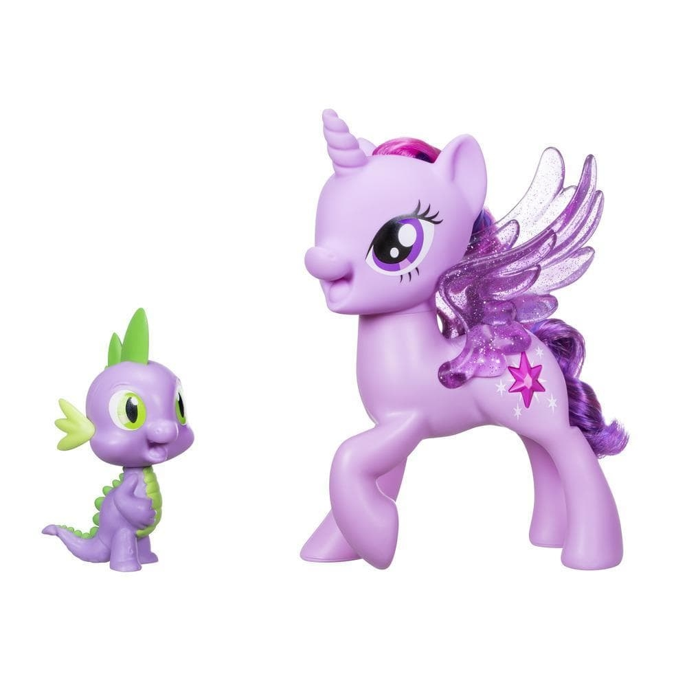 figurine my little pony twilight sparkle & spike - duetul prieteniei