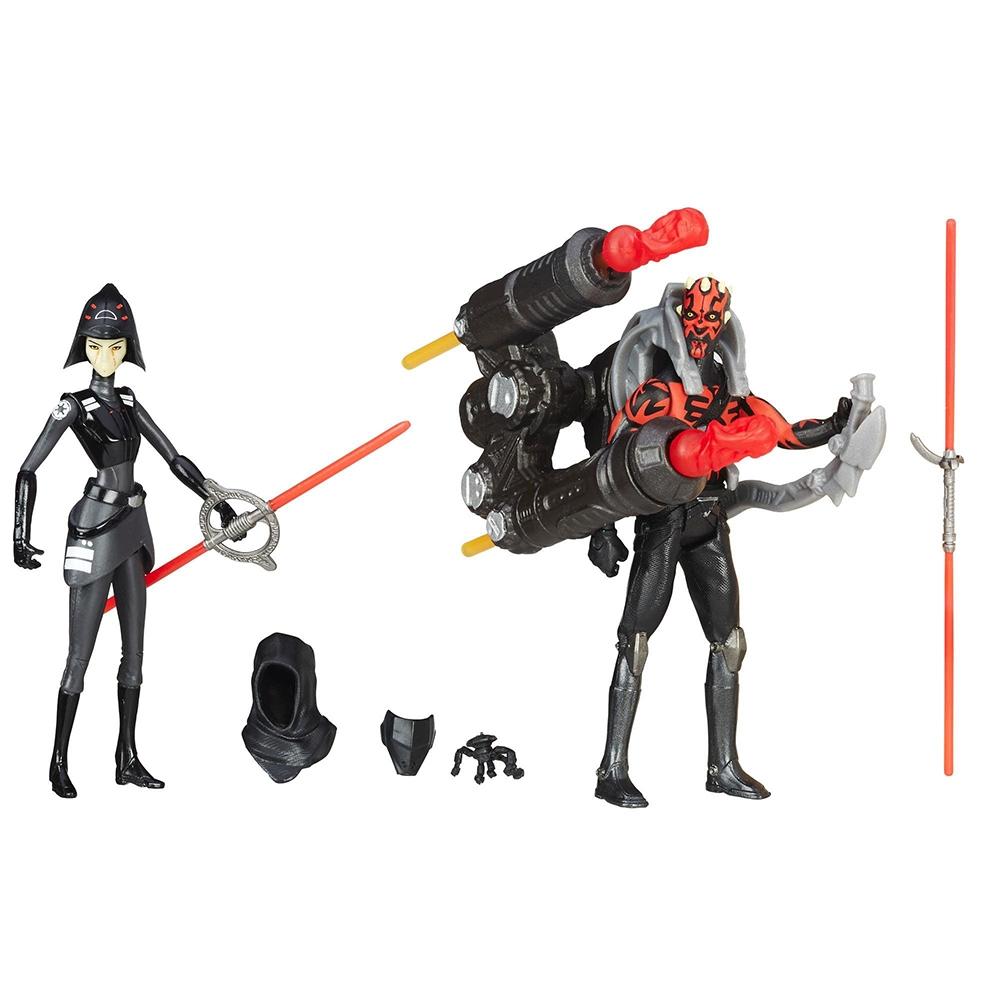 figurine star wars - rebelii, inchizitoarea a saptea sora vs. darth maul, 10 cm