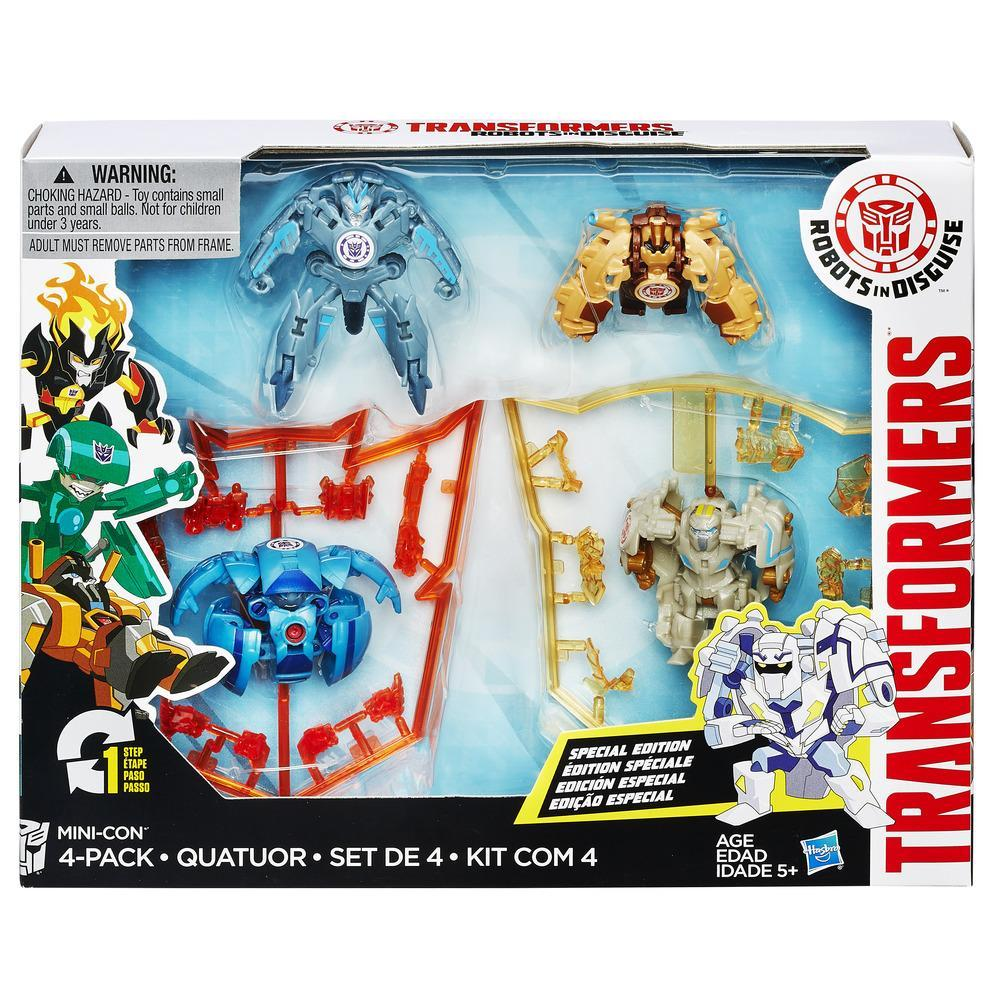 figurine transformers robots in disguise mini-con, set de 4