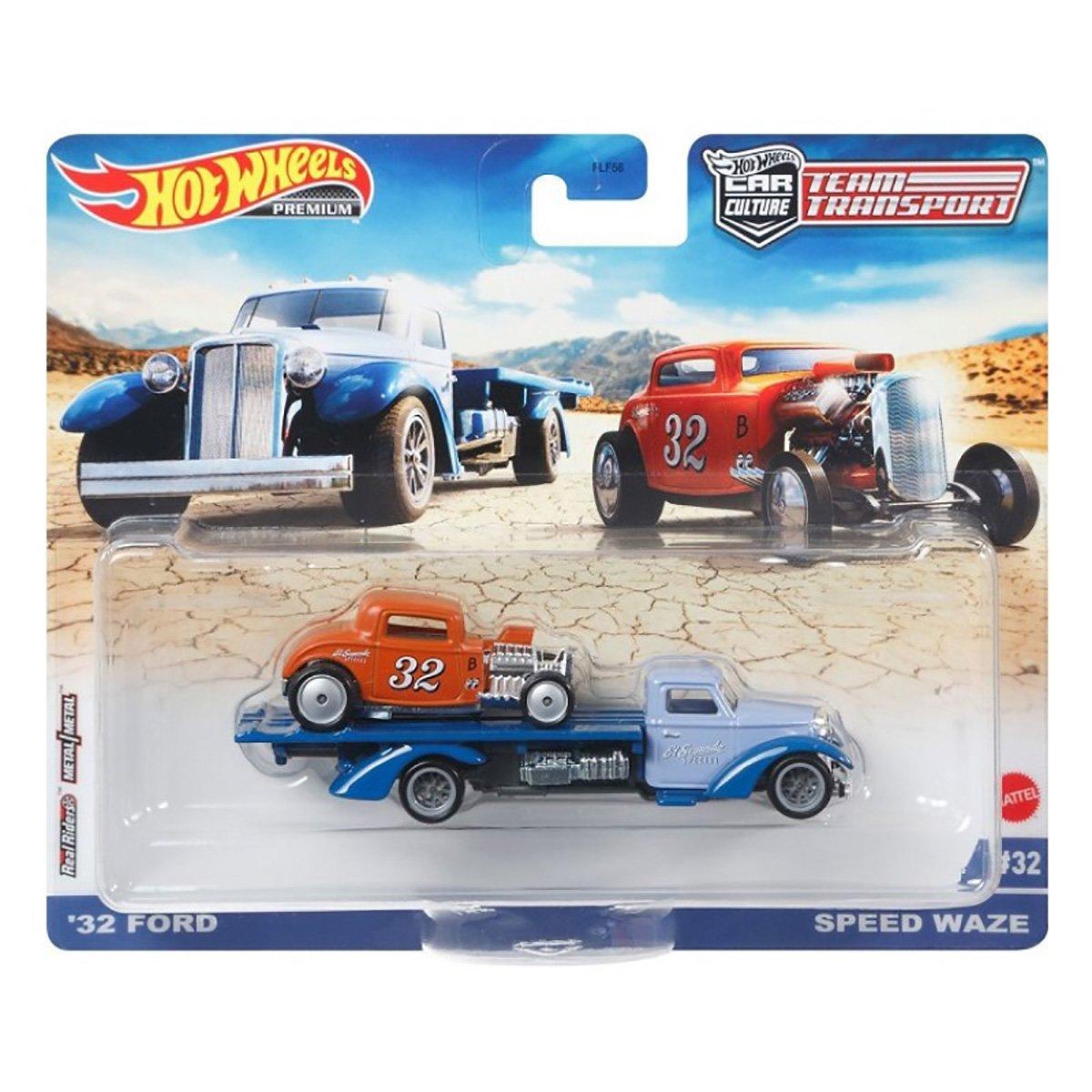 Transportator cu masinuta Hot Wheels, Ford, Speed Waze, GRK53