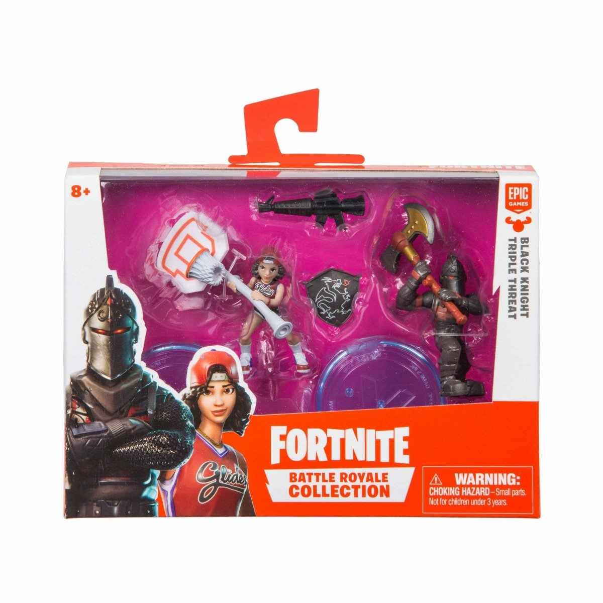 Set 2 figurine articulate Fortnite, Black Knight si Triple Threat , W1