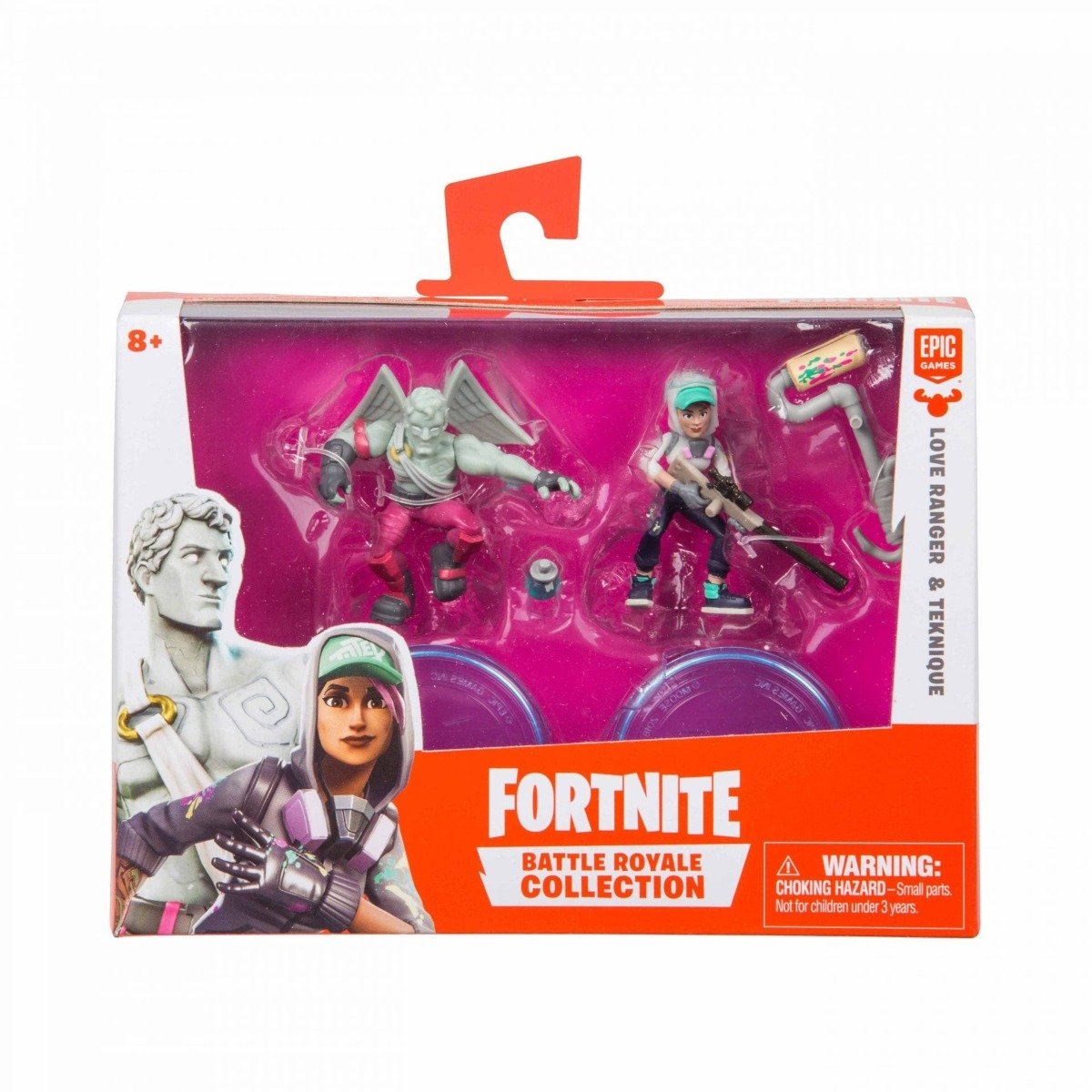 Set 2 figurine articulate Fortnite, Teknique si Love Range , W1