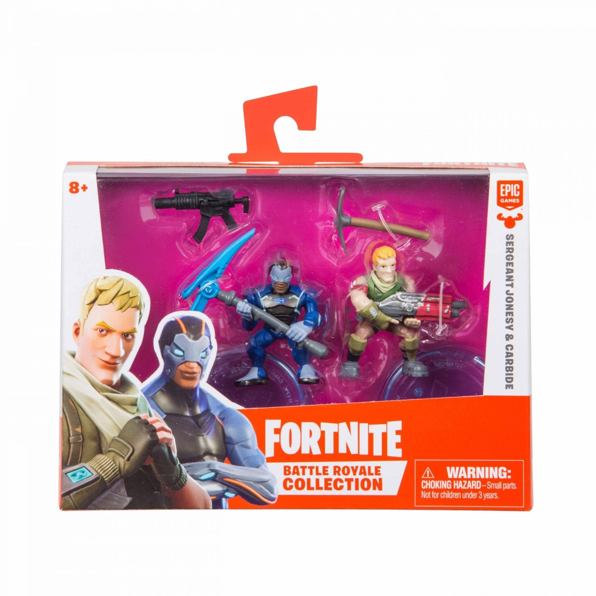 Set 2 figurine articulate Fortnite, Carbide si Sgt Jonesey, W1