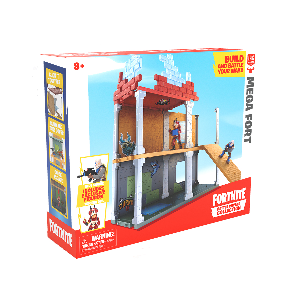Set de joaca cu 2 figurine Fortnite Battle Royale, Mega Fort