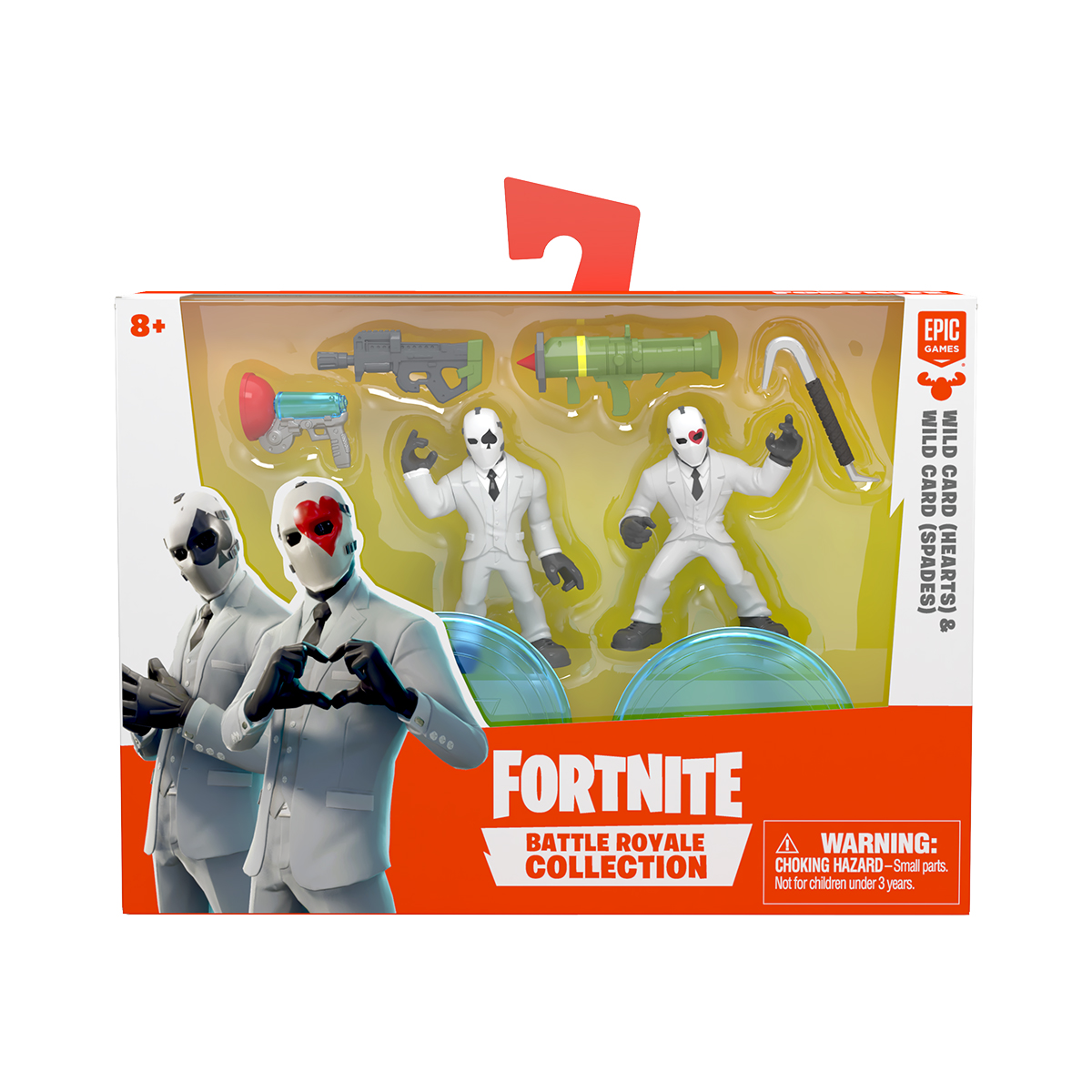 Set 2 figurine Fortnite, Hearts si Spades S1 W3 (63541)