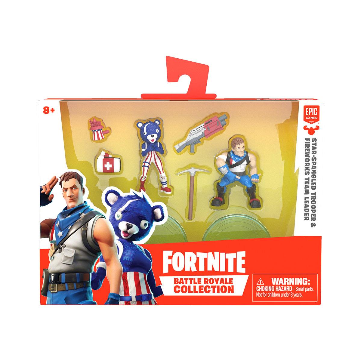 Set 2 figurine Fortnite, Star-Spangled si Fireworks Team Leader S1 W3 (63545)