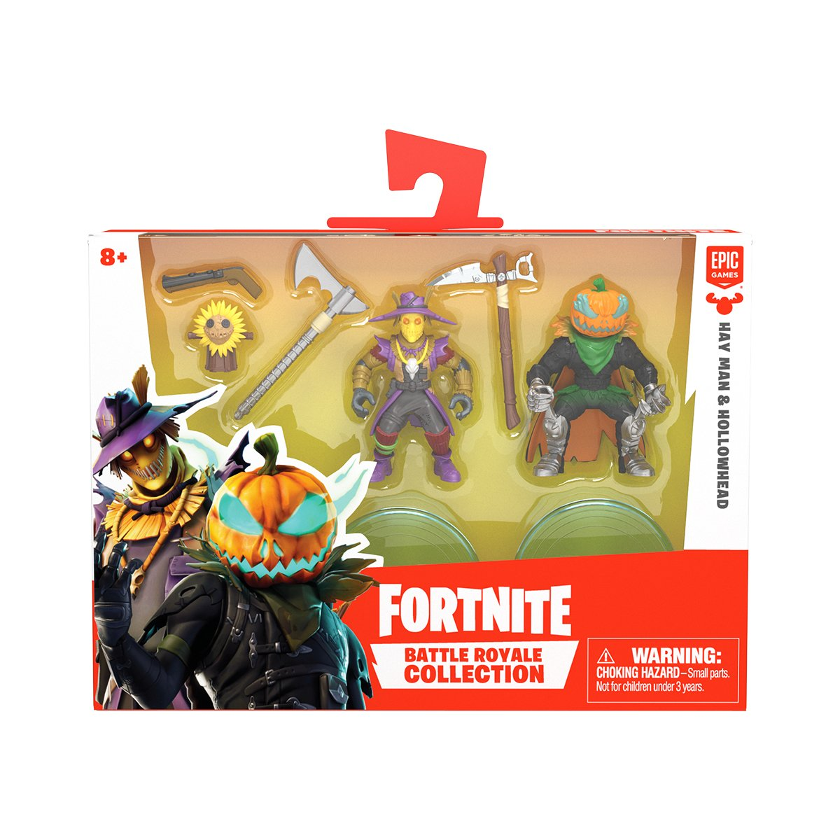 Set 2 figurine Fortnite, Hay Man si Hallowhead S1 W3 (63544)