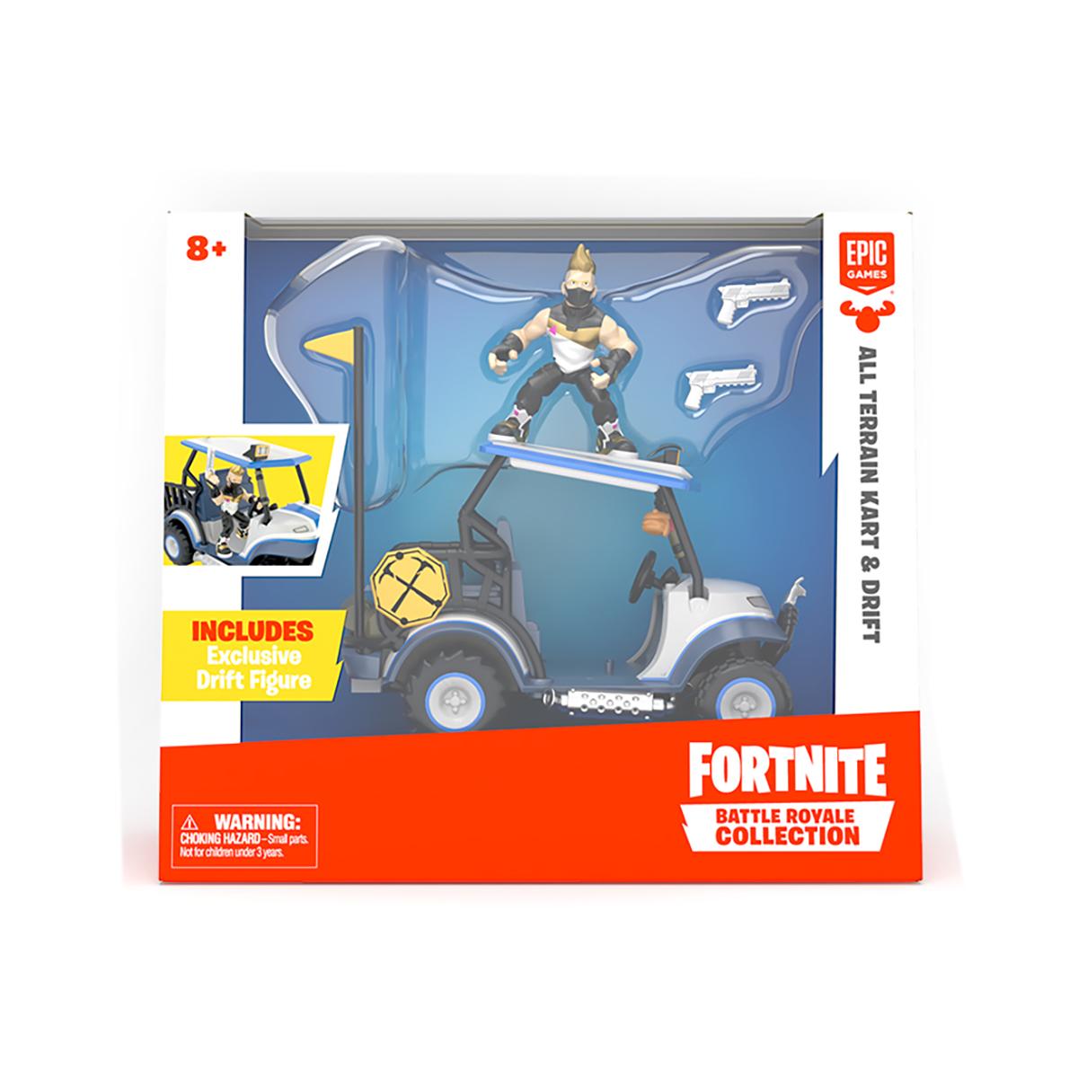 Set de joaca cu figurina si vehicul Fortnite, Kart si Drift