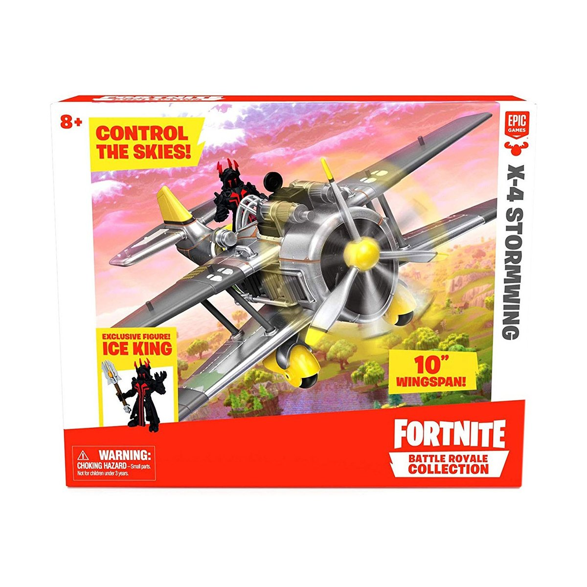 Set de joaca Fortnite, X-4 Stormwing Plane si Ice King
