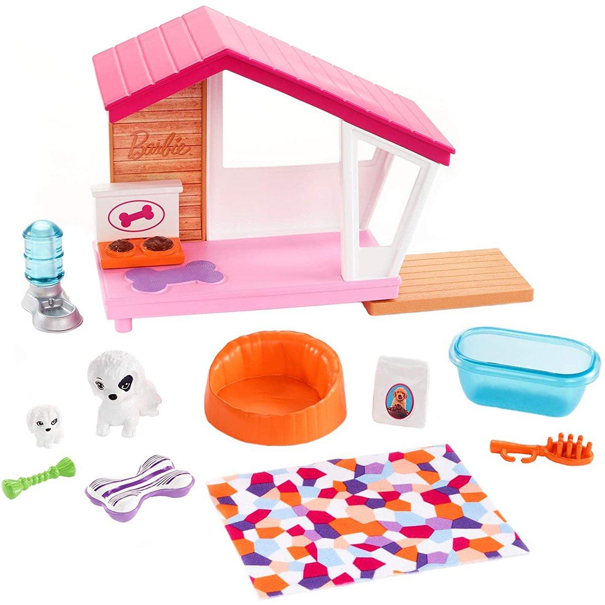 Set de joaca Barbie, Mobilier si accesorii pentru catel, FXG34