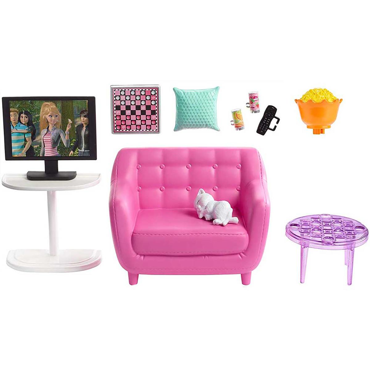 Set de joaca Barbie, Mobila sufragerie cu accesorii, FXG36