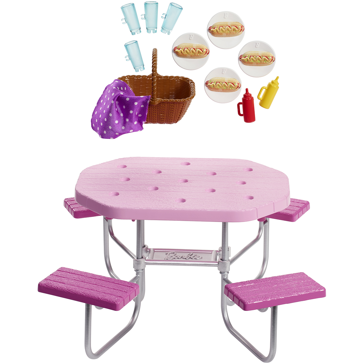 Set de joaca Barbie, Masa de picnic, FXG40