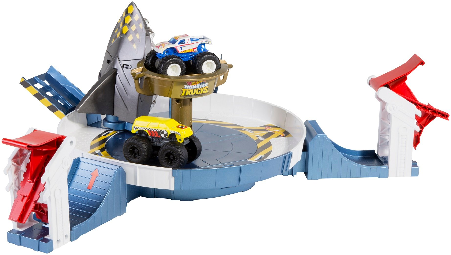 Set de joaca cu masina, Hot Wheels Monster Truck, Rechinul Furios