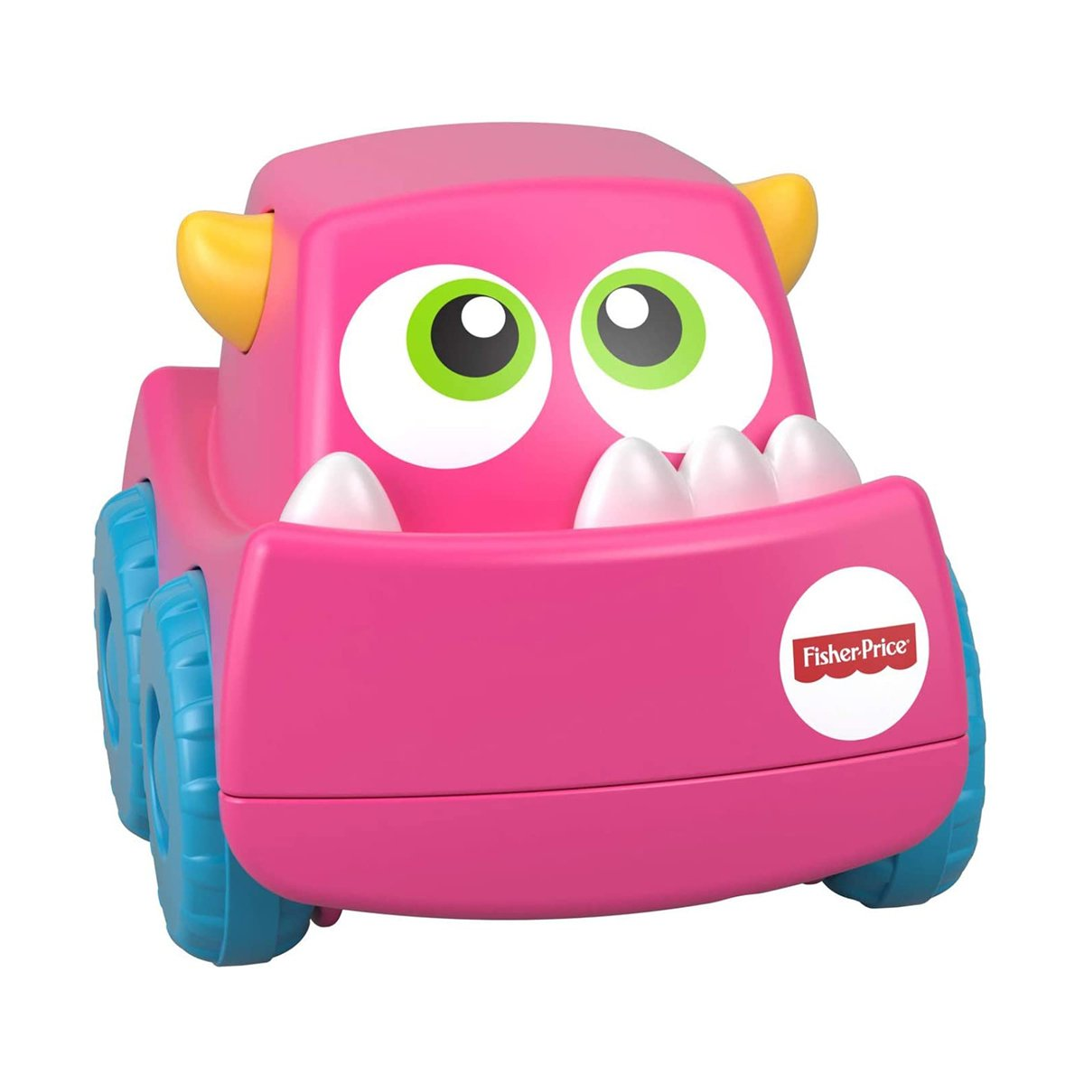 Jucarie bebelusi Mini vehicul monstrulet Fisher Price, Roz imagine