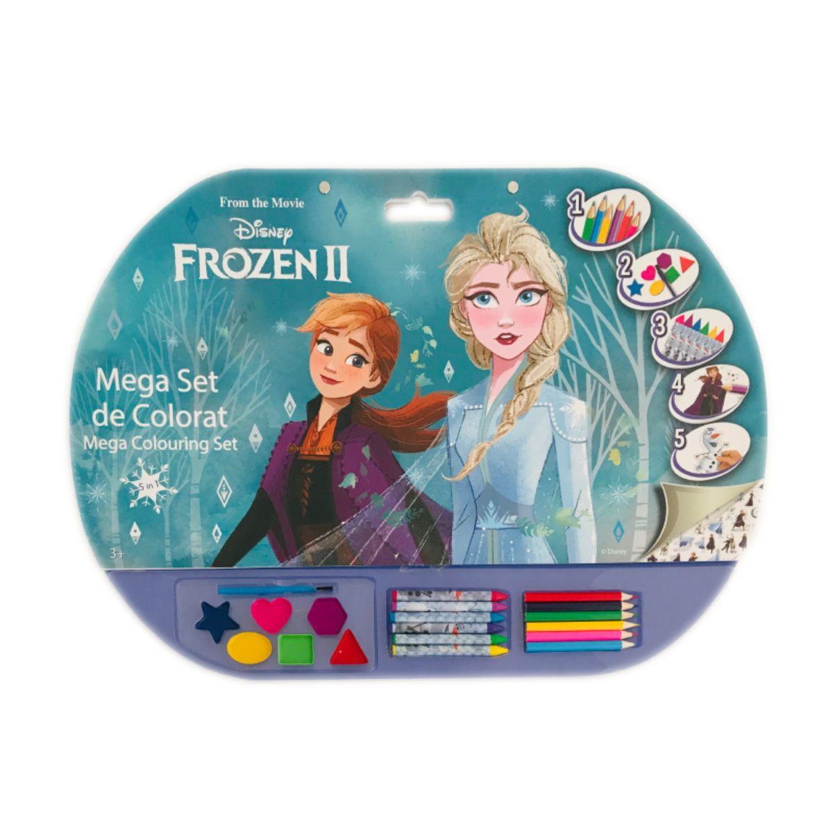 Mega Set de colorat 5 in 1, Frozen II