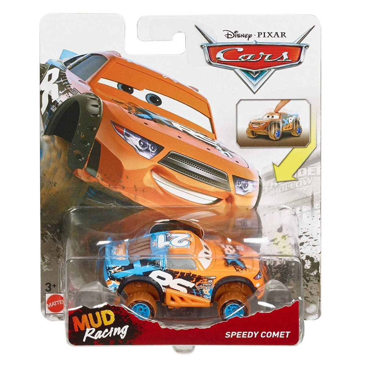 Masinuta Disney Cars XRS Mud Racing, Speedy Comet, GBJ40