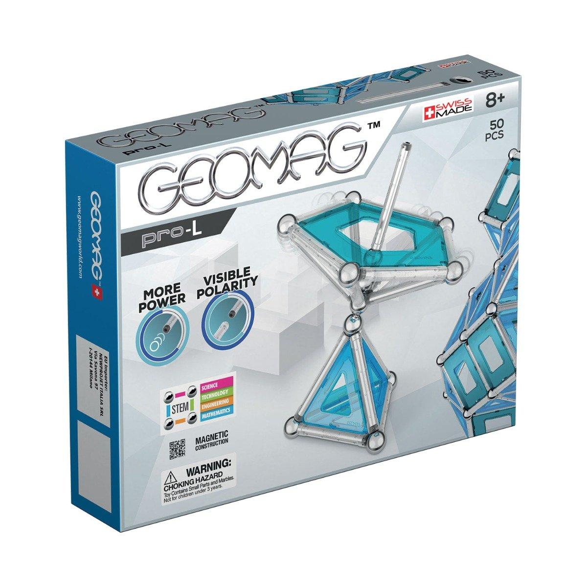 Joc de constructie magnetic Geomag Pro-L, 50 piese