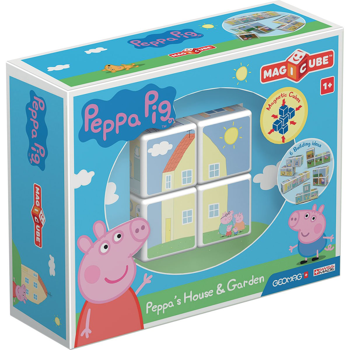 Joc de constructie magnetic Magic Cube, Peppa Pig House