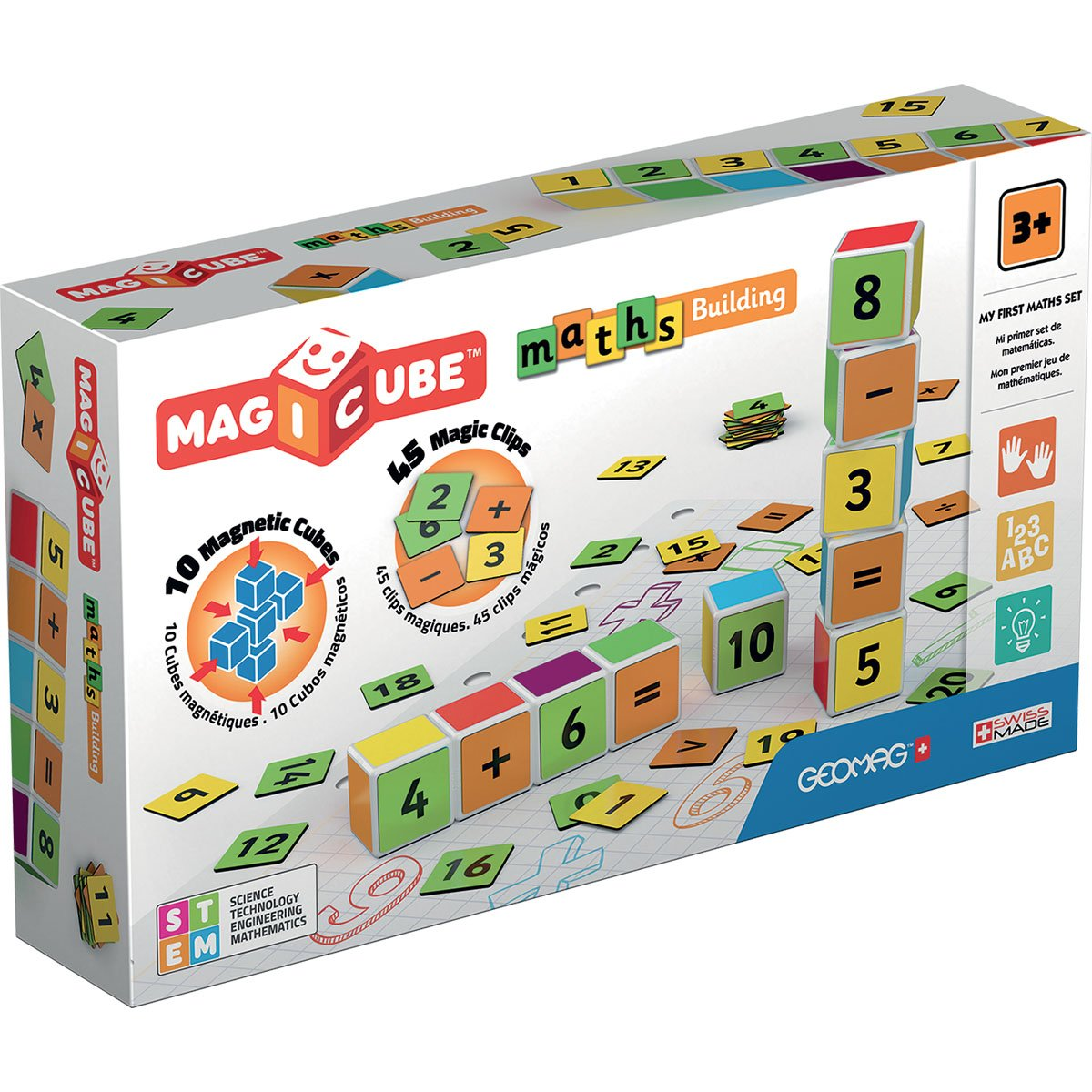 Joc de constructie magnetic Magic Cube, Maths Building