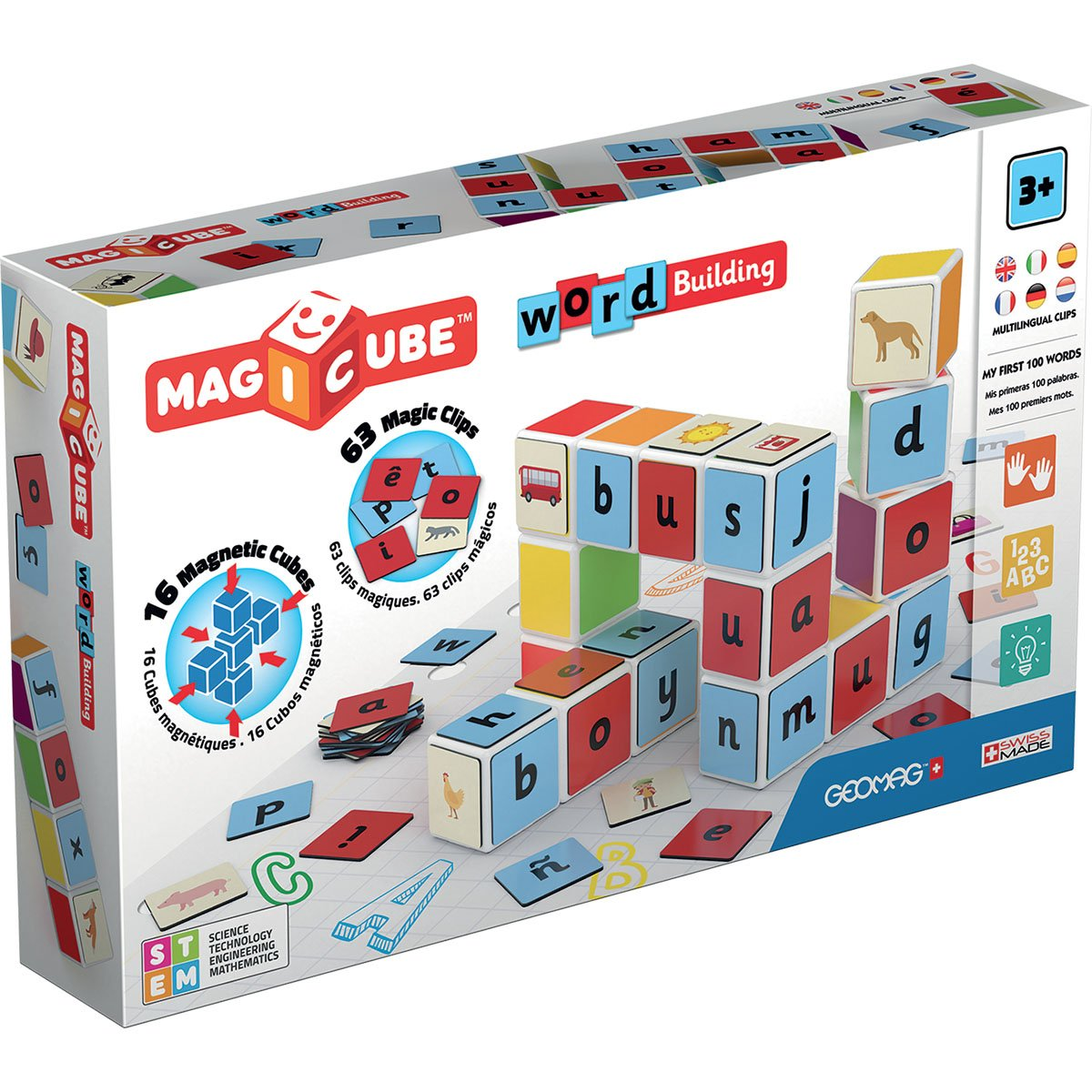 Joc de constructie magnetic Magic Cube, Word Building