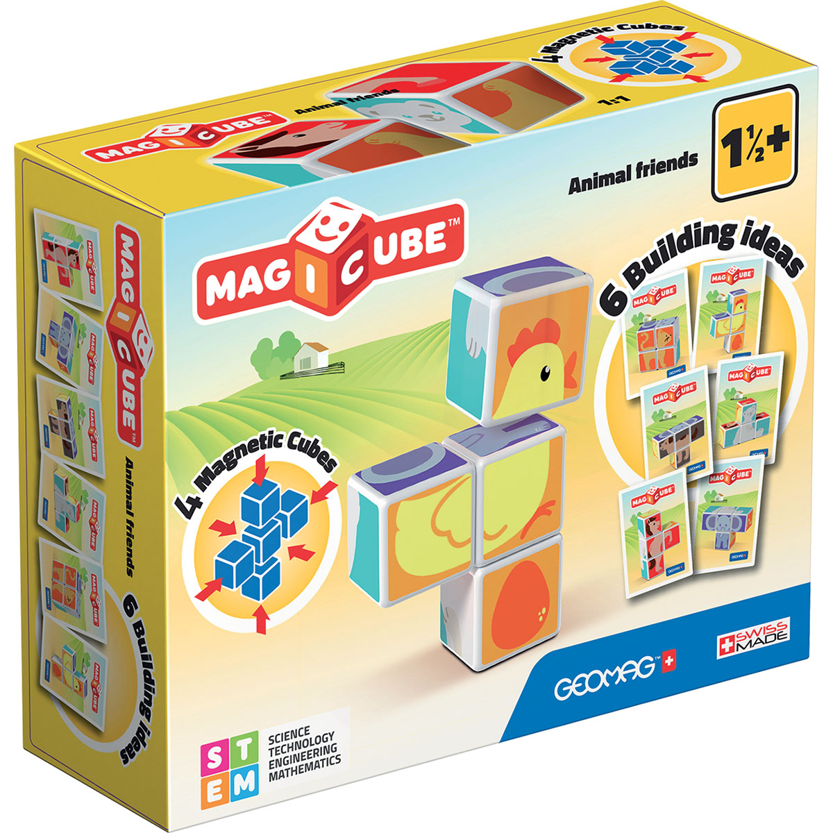 Joc de constructie magnetic Magic Cube, Animal Friends