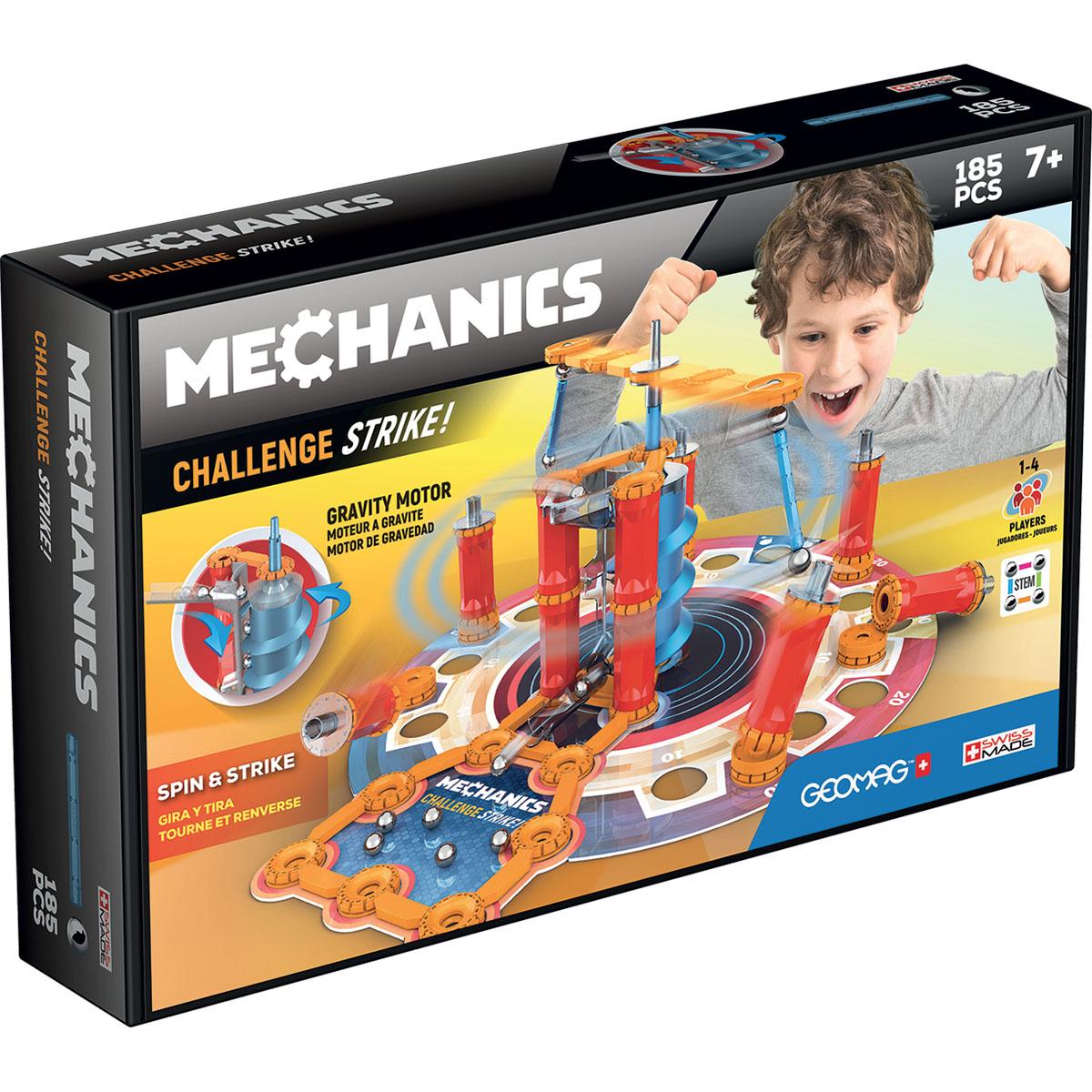 Joc de constructie Geomag Mechanics Challenge Gravity, 185 piese