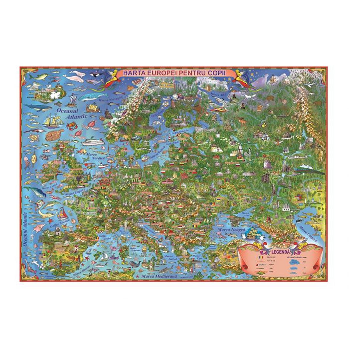 Harta Europei pentru copii Eurodidactica
