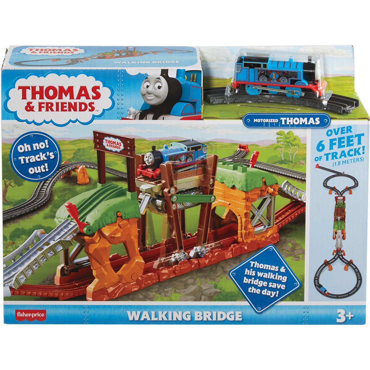 Set de joaca motorizat Thomas and Friends, Traverseaza podul